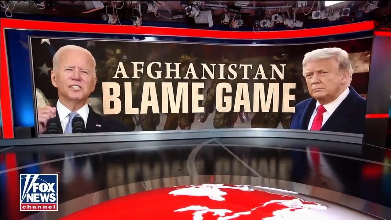 Joe Biden Tries Blaming Donald Trump For HIS Afghanistan Crisis