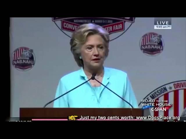 Clinton Fantasizing She Is Donald Trump's Wife