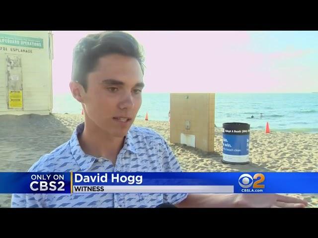 David Hogg - Lifeguard Confrontation Video at Redondo Beach CA