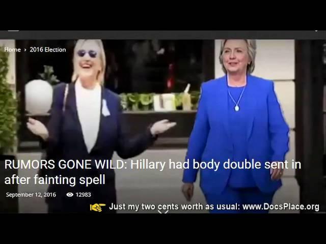 Hillary Clinton Body Double Teresa Barnwell 9/11 Apperance