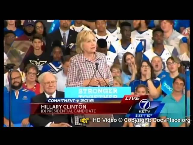 Hillary Clinton Saying We WILL RAISE Taxes